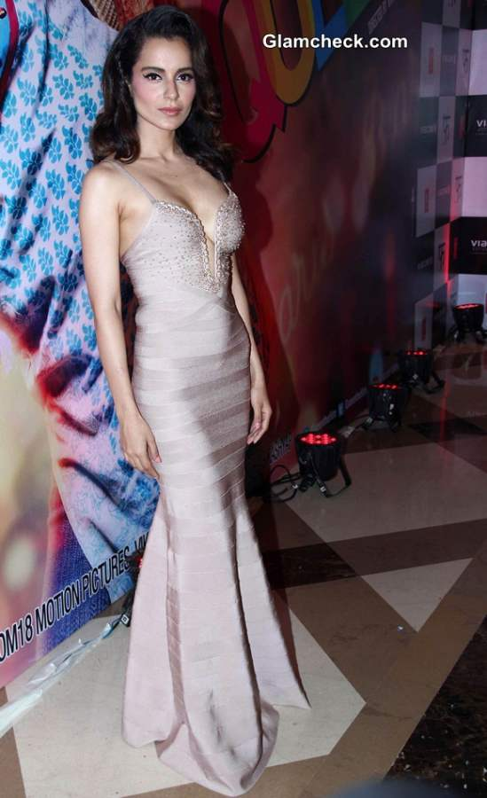 Kangana Ranaut in Herve Leger Gown at Queen Success Party