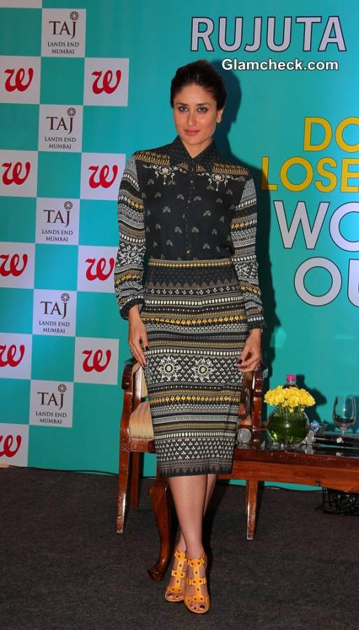 Kareena Kapoor in Tarun Tahiliani Dress at Dont Lost Out Work Out Book Launch