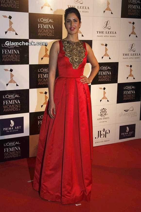 Katrina Kaif in Atsu Sekhose at LOreal Paris Femina Women Awards 2014