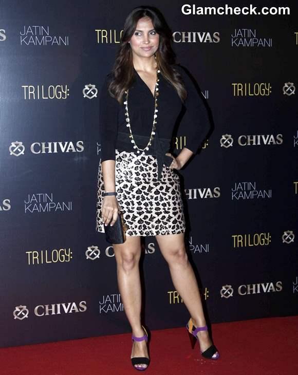 Lara Dutta in Banana Republic Mini Skirt at Chivas Event