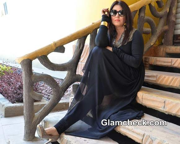 Mahima Choudhary 2014 in Black Indian Outfit