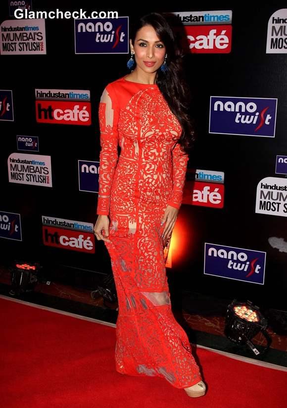 Malaika Arora Khan 2014 lace gown Hindustan Times Most Stylish Awards