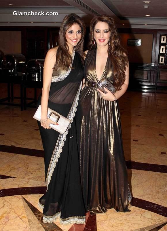 Model Tanaaz Doshi and fashion designer Pria Kataaria Puri