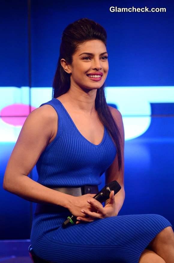Priyanka Chopra Launches Ndtv 2 In1 Channel In Blue Jersey