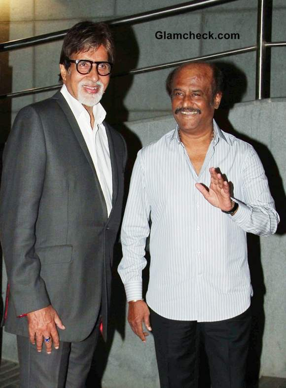 Rajijnikanth and Amitabh at Kochadaiiyaan Trailer Launch