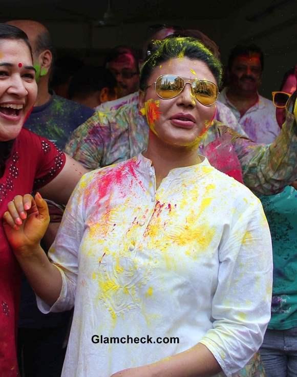 Rakhi Sawant 2014 during Holi Celebrations