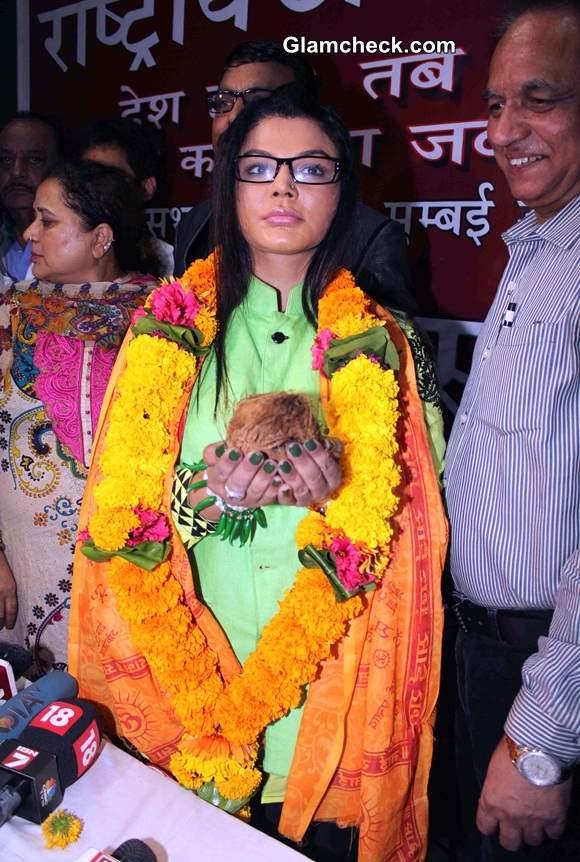 Rakhi Sawant party Rashtriya Aam Party