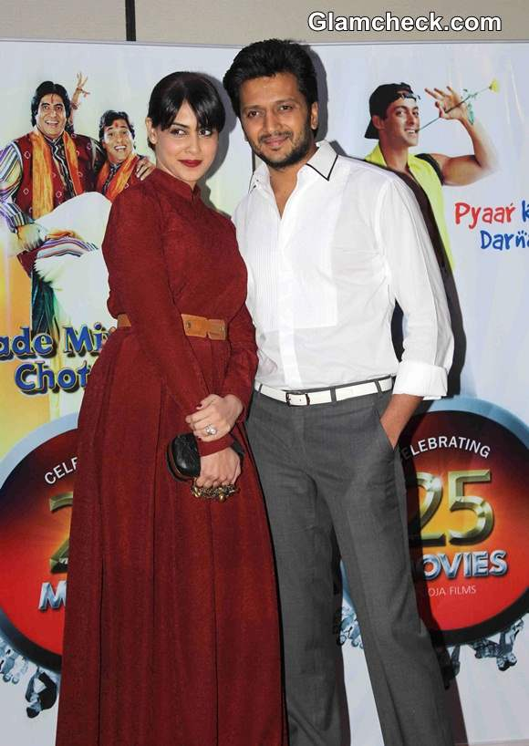 Riteish Deshmukh with his wife and actor Genelia DSouza