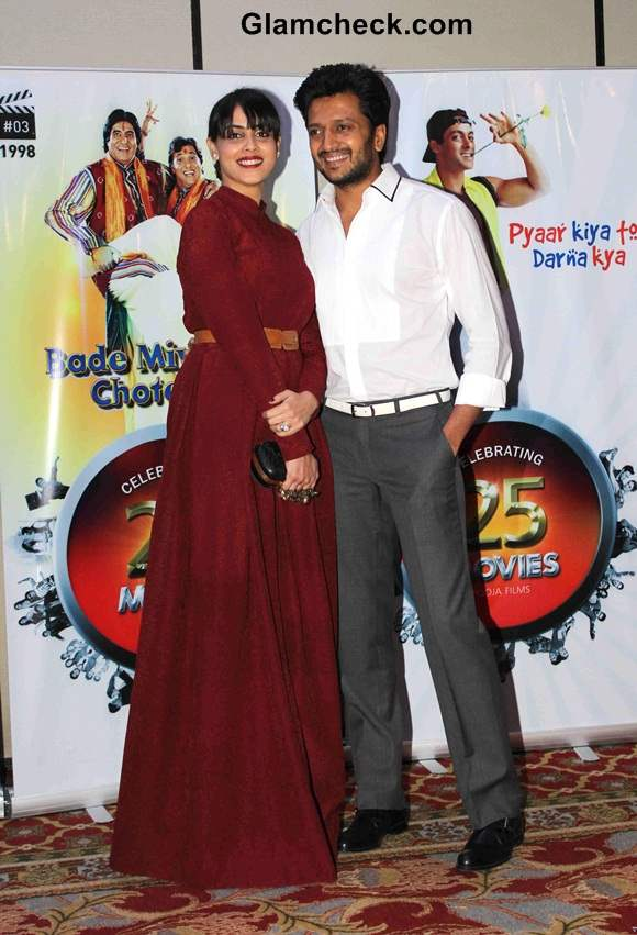 Riteish Deshmukh with wife Genelia DSouza