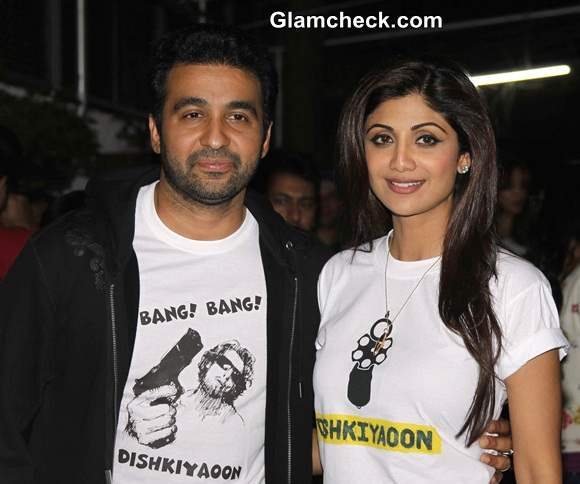 Shilpa Shetty Kundra with her husband Raj Kundra