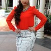 Soha Ali Khan in Skirt and Coral Blouse