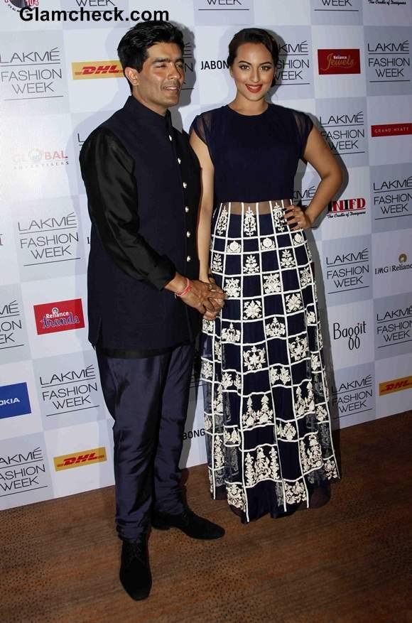 Sonakshi Sinha 2014 at Manish Malhotra LFW Summer-Resort Show
