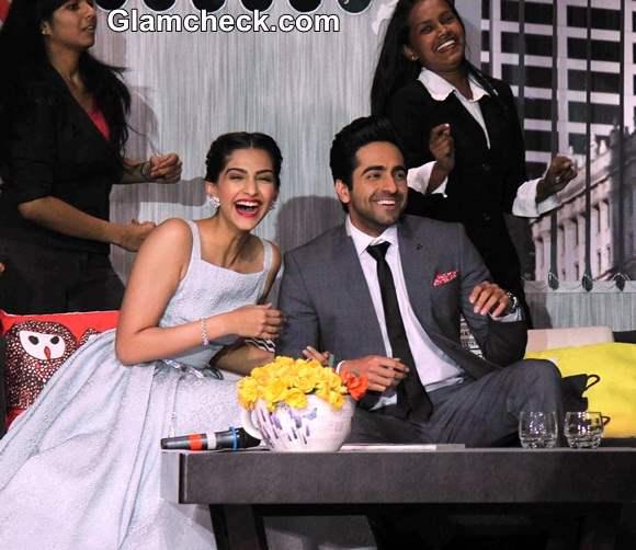 Sonam Kapoor and Ayushmann Promote Bewakoofiyan at YRF Get a Job Campaign