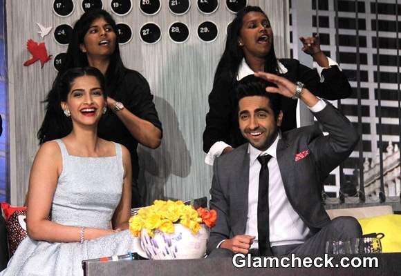 Sonam and Ayushmann Promote Bewakoofiyan