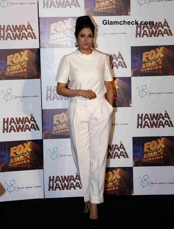 Sridevi Goes Neutral for Hawaa Hawaai Trailer Launch
