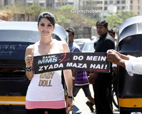 Sunny Leone Promotes Ragini MMS 2 in Autorickshaw Campaign