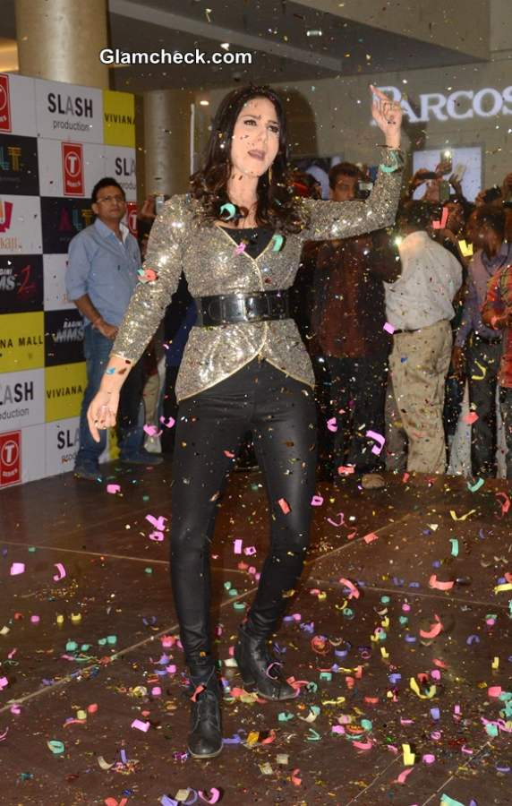 Sunny Leone Sports Rohit Verma outfit at Ragini MMS 2 Promotions