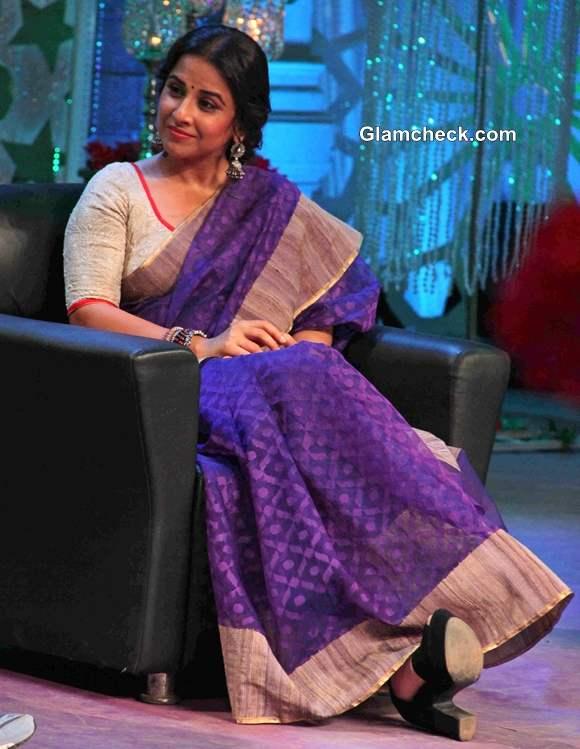 Vidya Balan 2014 in sari at No More Kamzor