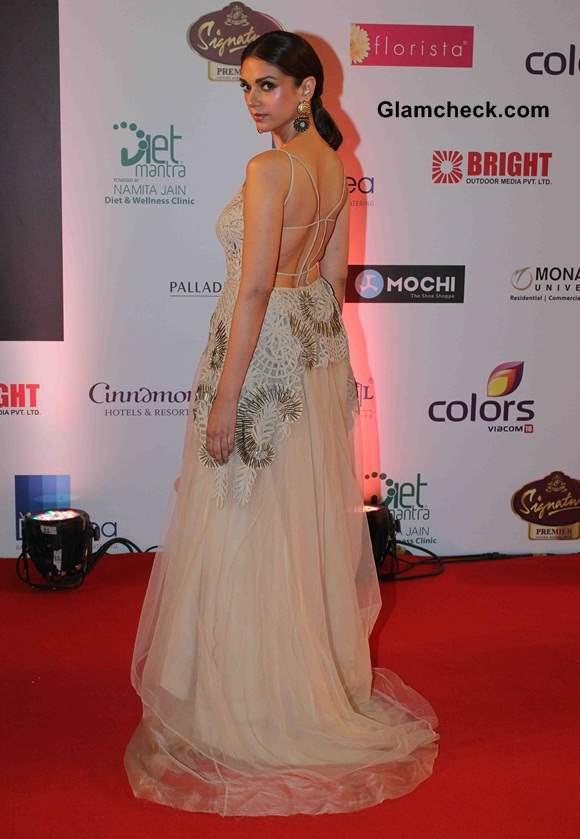 Aditi Rao Hydari in Jade Princess Gown Femina Miss India 2014