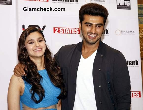 Alia Bhatt and Arjun Kapoor at 2 States New Cover Launch