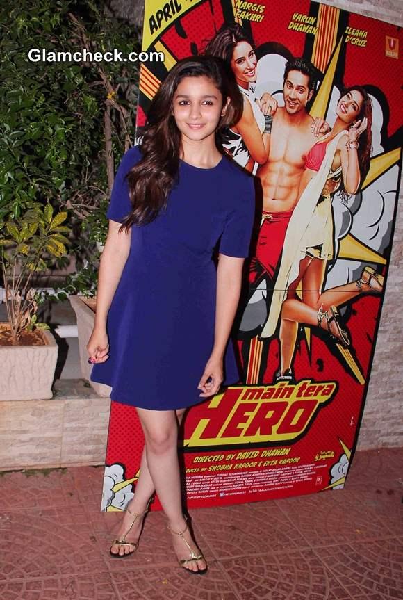 Alia Bhatt at Ragini MMS 2 and Main Tera Hero Success Party