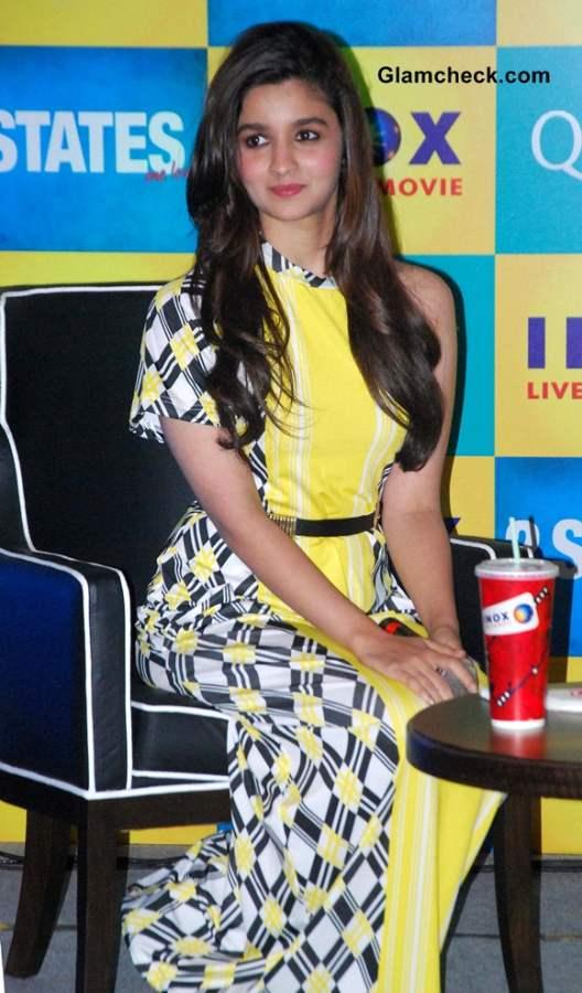 Alia Bhatt in Yogesh Chaudhary Surendri Dress at 2 States Kolkata Promo