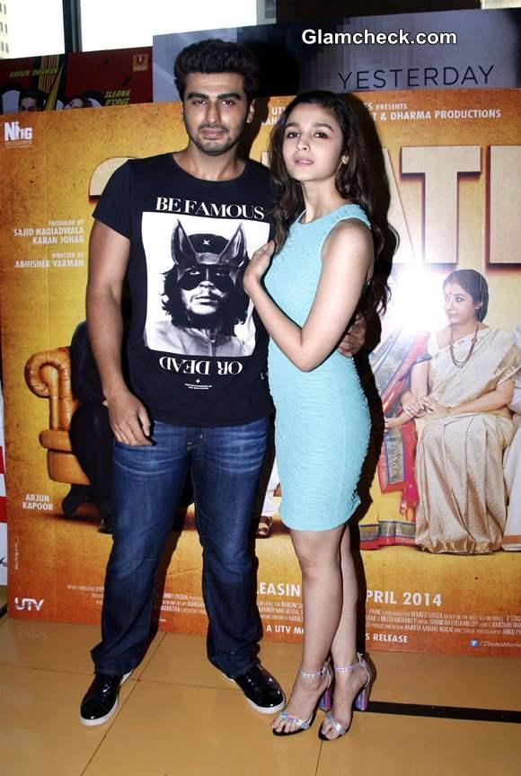 Arjun Kapoor and Alia Bhatt Visit Theaters to See 2 States Response