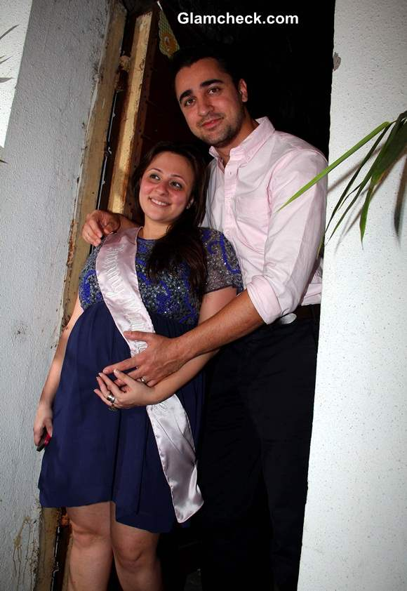 Imran Khan with his wife Avantika Malik during the baby shower ceremony