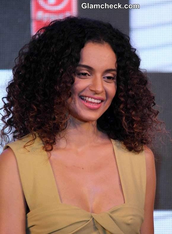 Kangana Ranaut 2014 Curly Hair