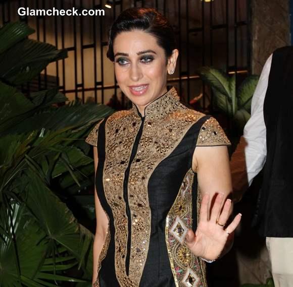 Karisma Kapoor during the store opening of designer Mayyur Girotra