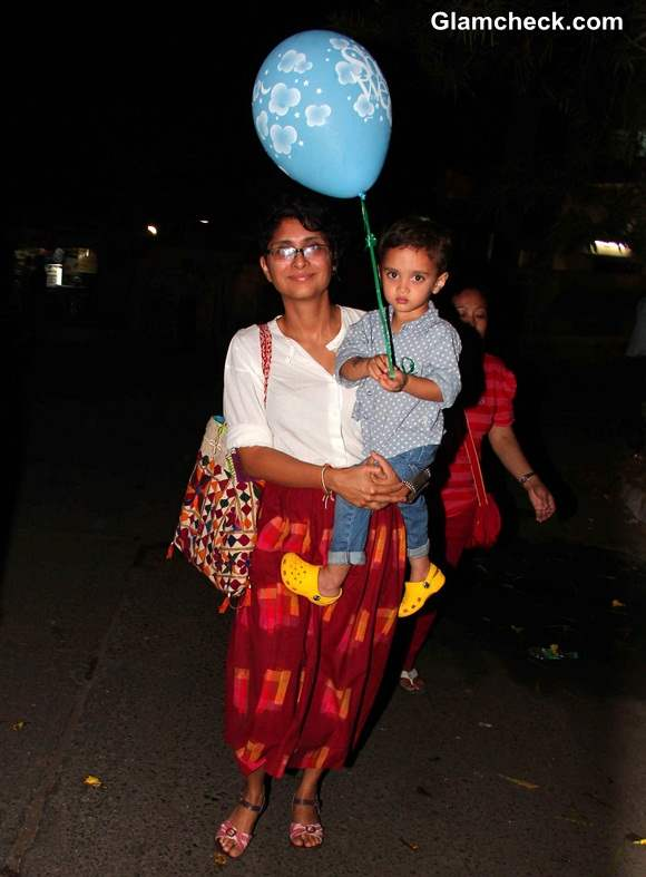 Kiran Rao with her son Azad Rao