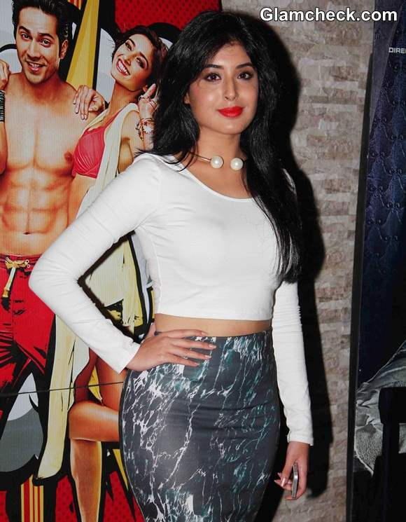 Kritika 2014 in white cropped top