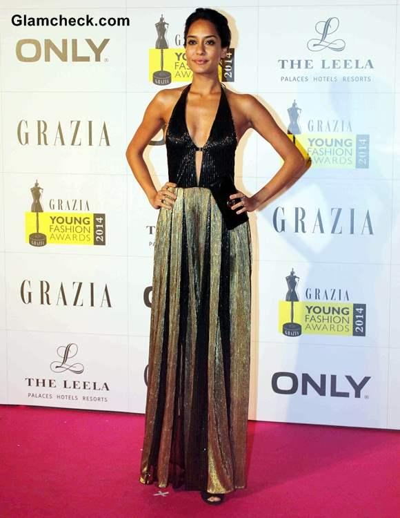 Lisa Haydon in Namrata Joshipura Gown