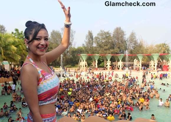 Madalasa Sharma Promotes Samrat Co at Water Kingdom