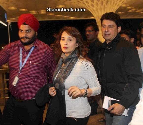 Madhuri Dixit with Husband Sri Ram Nene at IIFA Awards 2014