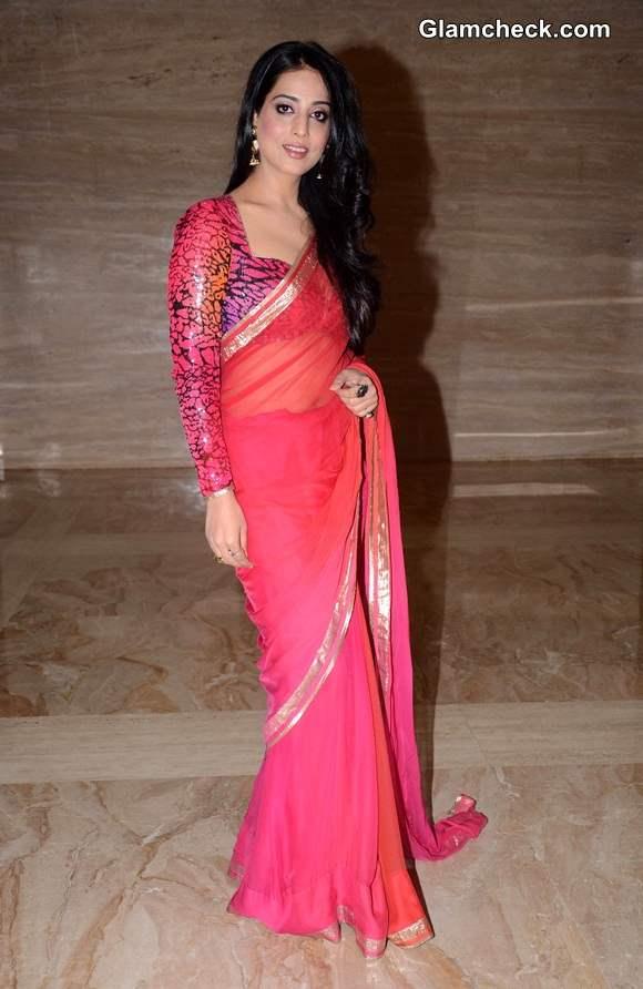 Mahi Gill 2014 Pink Sari