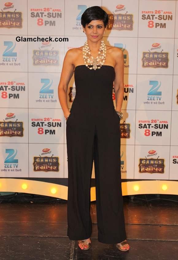 Mandira Bedi in Black Jumpsuit at  Gangs of Hasseepur Launch