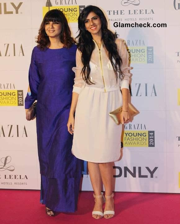 Neeta Lulla and her daughter Nishka Lulla at Grazia Young Fashion Awards 2014
