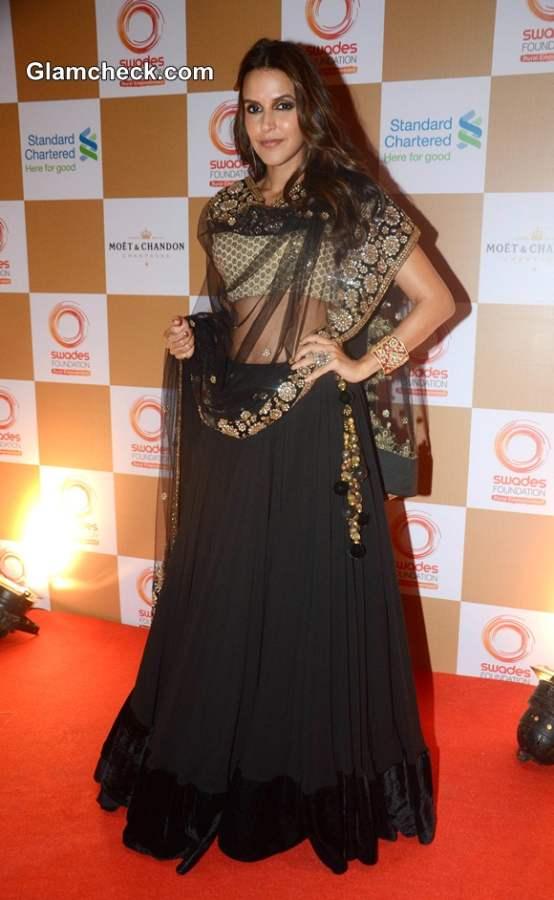 Neha Dhupia 2014 Swades Foundation Fashion Show