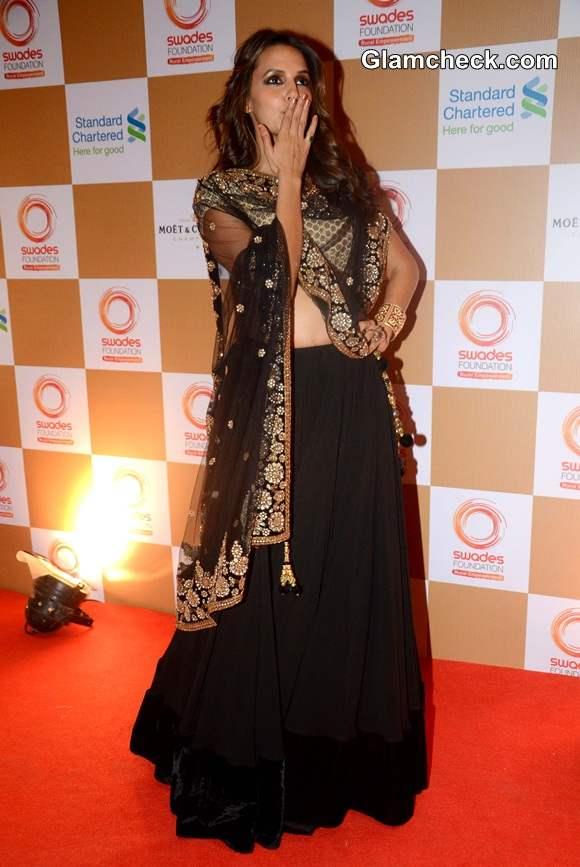 Neha Dhupia at 2014 Swades Foundation Fashion Show