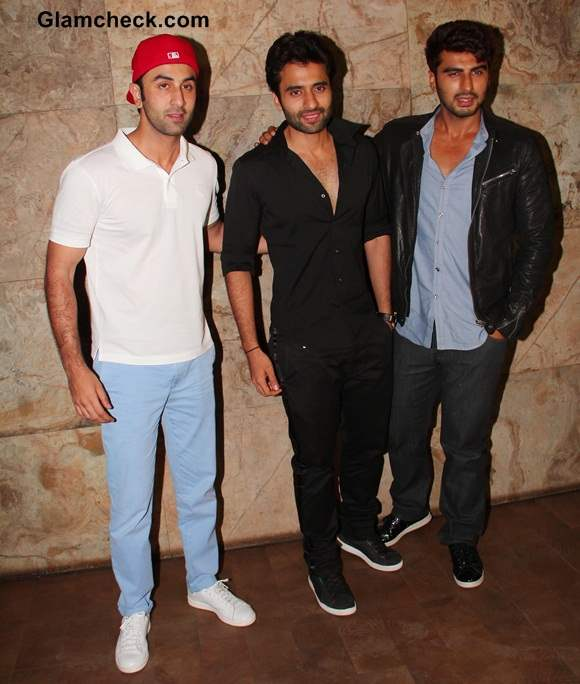 Ranbir Kapoor Jackky Bhagnani and Arjun Kapoor