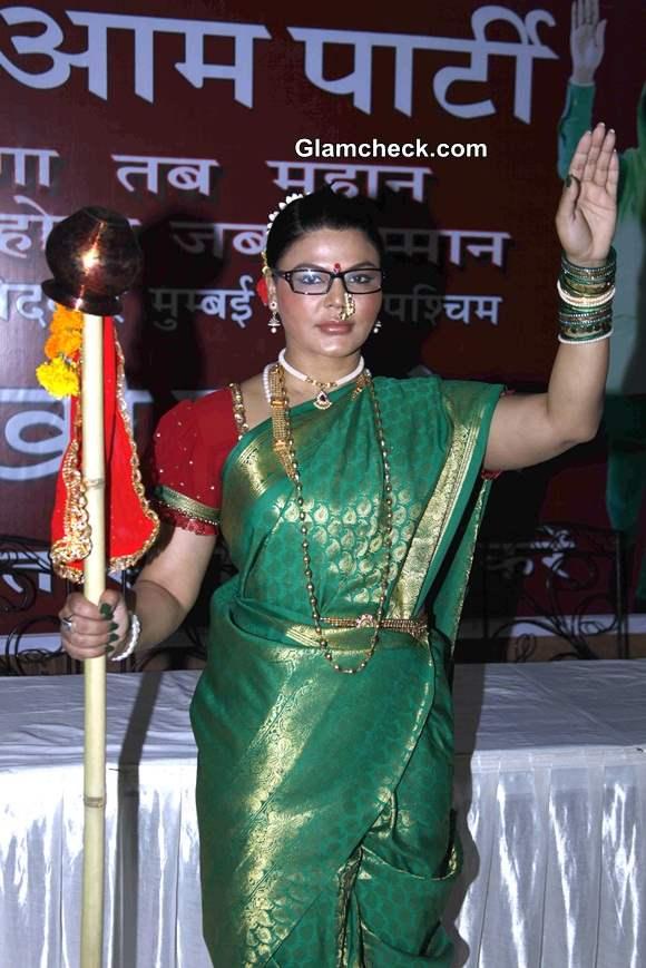 Rashtriya Aam Party candidate Rakhi Sawant