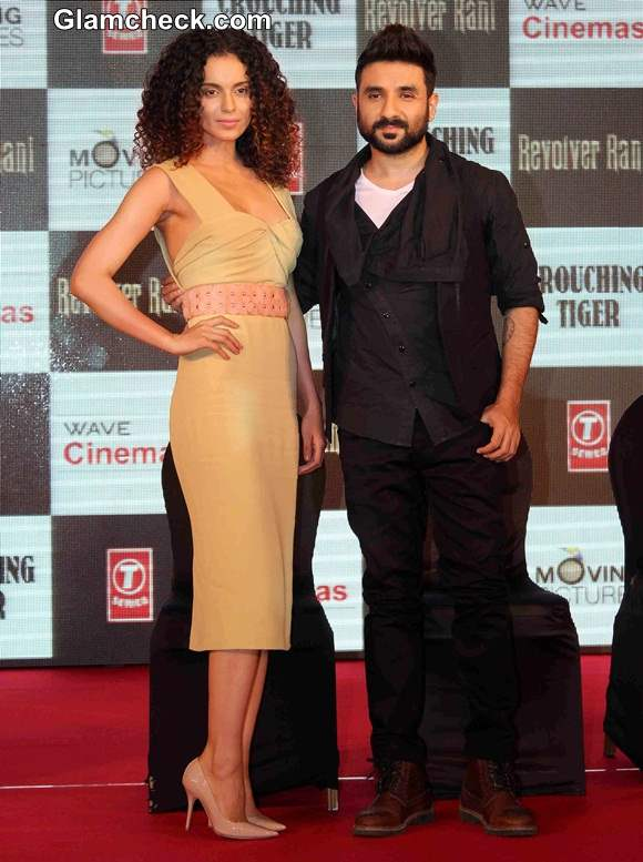 Revolver Rani Kangana Ranaut Promotes Film in Burberry Spring Dress