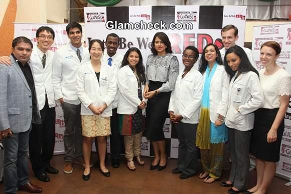 Sameera Reddy at Anemia Campaign