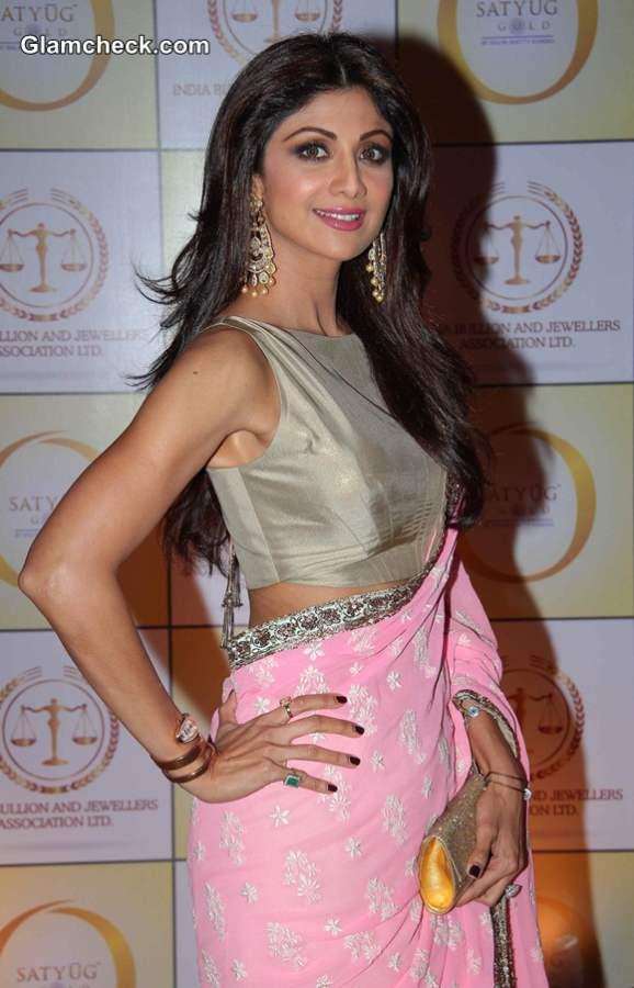 Shilpa Shetty in saree 2014