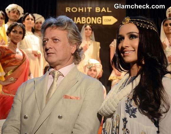 Shraddha Kapoor 2014 Walks the Ramp at Rohit Bal Jabong Show