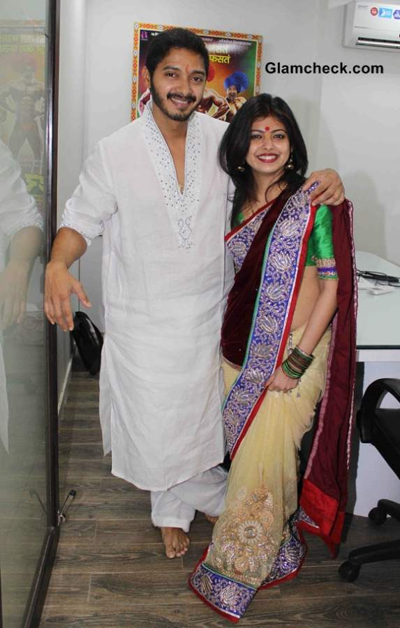 Shreyas Talpade and his wife Deepti