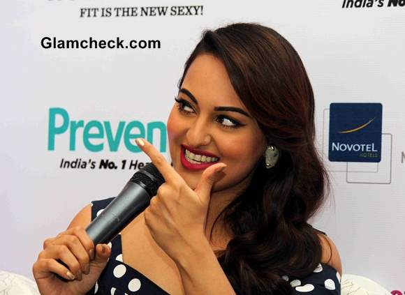 Sonakshi Sinha 2014 at Womens Health Cover Launch