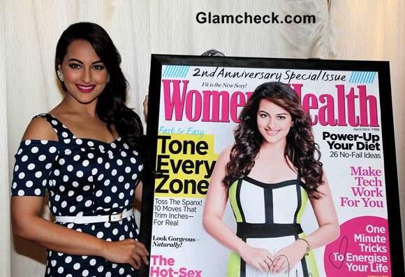 Sonakshi Sinha at Womens Health Cover Launch