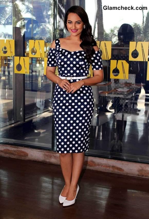 Sonakshi Sinha in Asos Polka Dot Dress